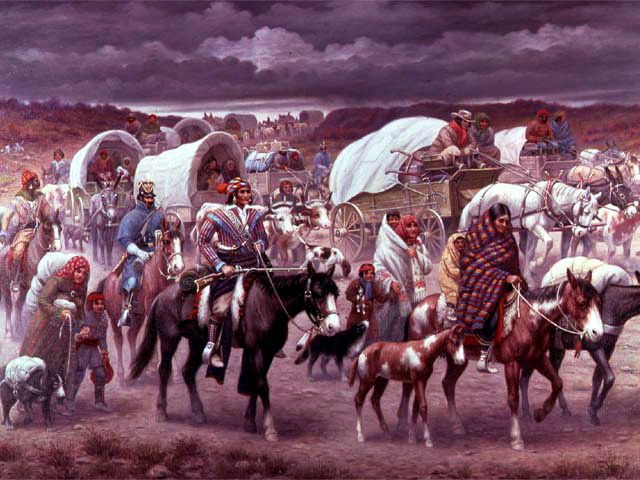 Trail of Tears: Painting by Robert Lindneux (1942)